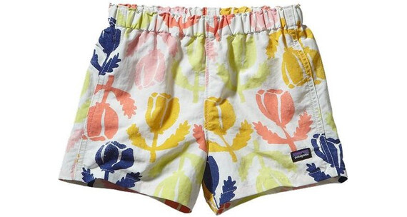 Patagonia Baby Baggies Shorts Poppies: Birch White